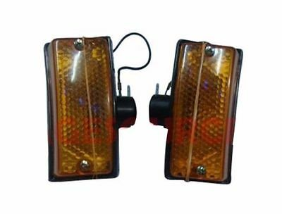 Vespa Px Lml Star Stella Front Indicator Blinker Set Of 2 Amber Yellow @aud