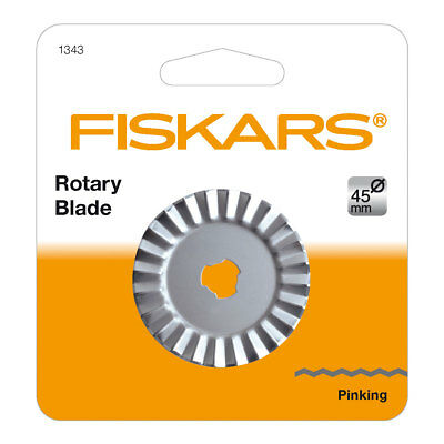 Fiskars 1343 Lame Rotative ZigZag Gris Diamètre 45 mm