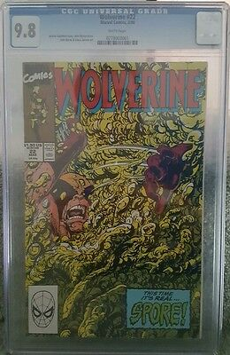 Wolverine #22 Cgc Graded Comic Book 9.8 March 1990 X-Men Marvel Slab Collectable
