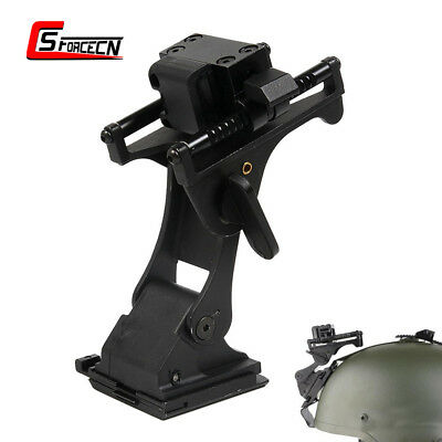 Tactical Helmet Mount for MICH Fast Helmet & Night Vision Goggle Base Black