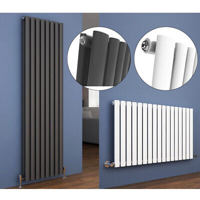 Designer Oval Column Tall Upright Central Heating Radiators Vertical&Horizontal