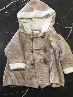 Seed Baby Cardigan With Hood Sz0-3months Great Condition
