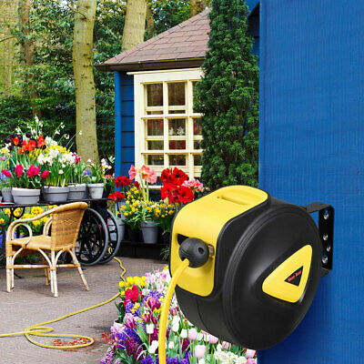 10M Retractable Auto Air Hose Rewind  Reel Wall Mount Industrial Tool Compressor