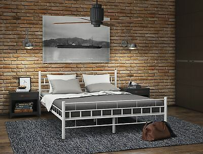 metallbett bettrahmen doppelbett bettgestell matratze ehebett metall bett neu eur 146 95. Black Bedroom Furniture Sets. Home Design Ideas