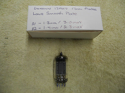 Unknown 12AX7 ECC83 17mm long smooth plates Tests good AVO