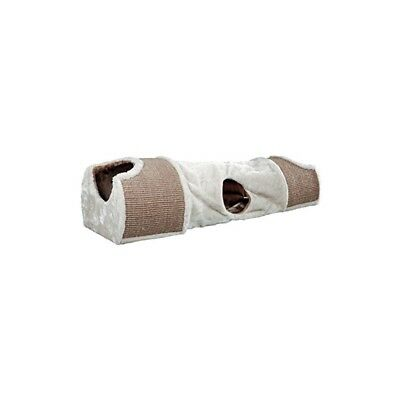 Trixie Arbre À Chat Tunnel Pour Chat, 110 X 30 X 38 Cm, Gris/gris Clair/marron