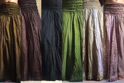 Long gypsy hippy boho lace skirt
