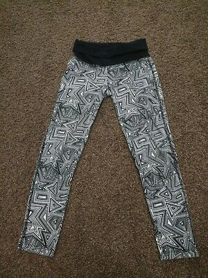 Girls Black and White YOGA Pants S 7/8 FREE SHIPPING