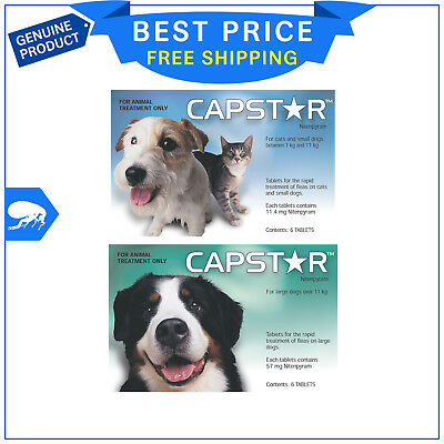 CAPSTAR for Dogs 6 tablets by Novartis Rapid Flea Control for dogs All Sizes