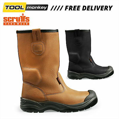Scruffs Gravity Rigger Safety Boots | STEEL TOE CAP | Brown or Black | S1P SRA