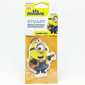 Stuart Minions 2D Hanging Car Air Freshener Candy Pop Fragrance Scent Smell