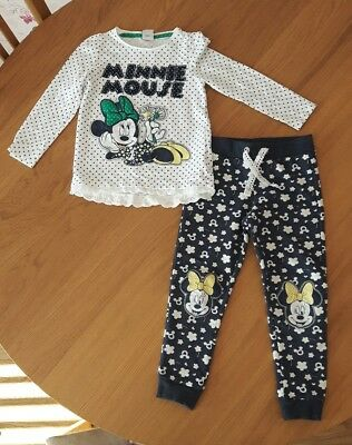 4-5 years girls top and jogging bottoms Minnie Mouse Disney