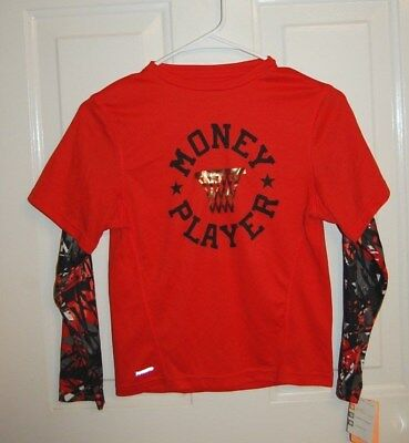 edacec54 New Boys Red Champion C9 Duo Dry Plus Layered Athletic Sports Shirt Size S  6-
