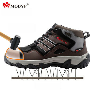 Men winter steel toe cap work safety shoes casual reflective breathable boots