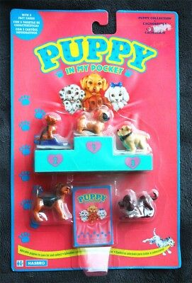 PUPPY IN MY POCKET SET (HASBRO, 1993. Ver 2). 5 Fact Cards, BRAND NEW OLD STOCK!