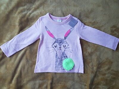 NEXT BNWT baby girl Pink Rabbit top size 12-18 months