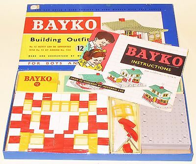 Bayko Meccano Building Outfit Set 12 Great Condition Factory Sealed MINT BOXED
