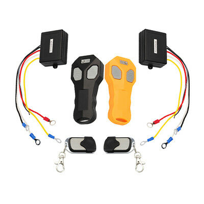 DC12V Wireless Dual Remote Control Kit for Universal Car Truck ATV Winch