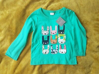 NEXT BNWT baby girl Green Bunny T-Shirt size 12-18 months