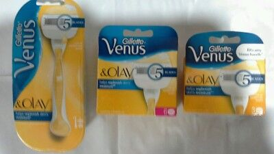 Gillette Venus & olay Razor pack x 1 plus cartridge 6pack & 3pack