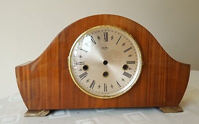 Vintage German Bentima 8 Day Mantle Clock case - With Chimes still in place