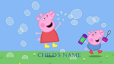 Personalised childrens A4 placemat / table mat  PEPPA PIG