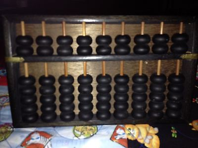 Antique Wood Abacus Made In Japan