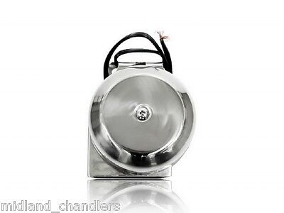 12 Volt Marine Stainless Steel Compact Horn Boat / Narrowboat / Yacht