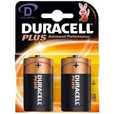 Duracell D (Two Pack)