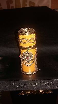 Antique Imperial Fine Russian Faberge Silver Medicine Container Hallmarked