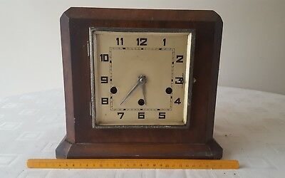 Vintage Square Art Deco 1930's Westminster Chime Mantle Clock