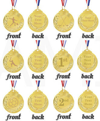 Custom Engraved Gold Coloured Medal Personalised Medal Sports Sporting Trophy