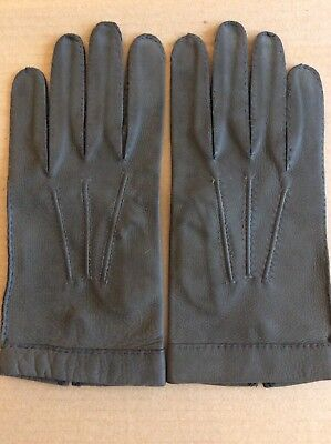 NEW DANIEL HAYS Mens Vintage Old Stock Leather Gloves sz 8 Olive- Brown Italy