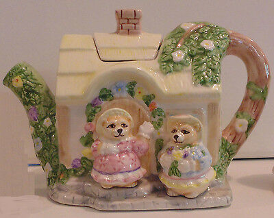 Teddy Bear English Style Cottage Tea Pot (C) 1993