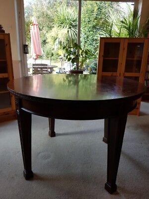 Antique Mahogany Round Library/Hall Table
