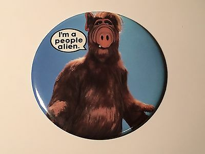 "Alf Alien Pin Button Oversize 6"" Vintage 1987"
