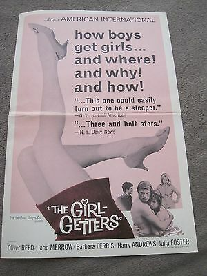 1966 8 page pressbook The Girl Getters Oliver Reed Jane Merrow