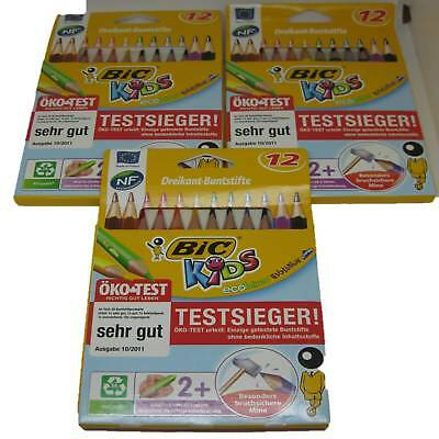 3er Sparpack BIC KIDS Buntstift ECOlutions EVOLUTION Triangle 12 Farben Stifte