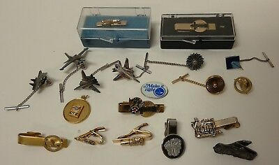 Lot of Vintage Aircraft Jet Engine Pratt & Whitney Tie Lapel Clips and Pins
