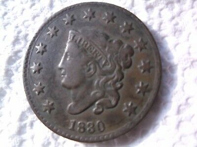 1830    N 4     Coronet Head Large Cent