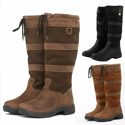 Dublin River Boots NEW Waterproof Leather Dog Walking Long Riding Country Boots