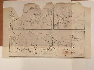 The FLINTSTONES: Orig. Comic Book Prelim. Art Drawing (Eisenberg,Gold Key,1965)