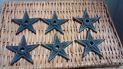 """6 Cast Iron Rustic Architectual Stress Washer Texas Star 4 1/4"""" WideX 1/2"""" thick"""