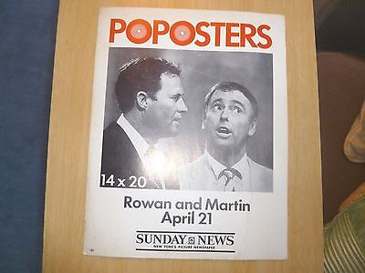 Hard to Find! Rowan and Martin ORIG PROMO POSTER NY Daily News POPOSTERS!