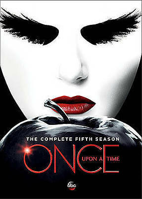 Once Upon A Time: The Complete Fifth Season (DVD, 2016, 5-Disc Set) (SEALED)