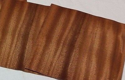 "Mahogany Wood Veneer, Raw/Unbacked - Pack of 6 9"" x 9"" Sheets (3 sq ft)"