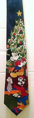 DISNEY MICKEY MOUSE GOOFY CHRISTMAS TIE Tree Decorations Gifts Blue Holiday