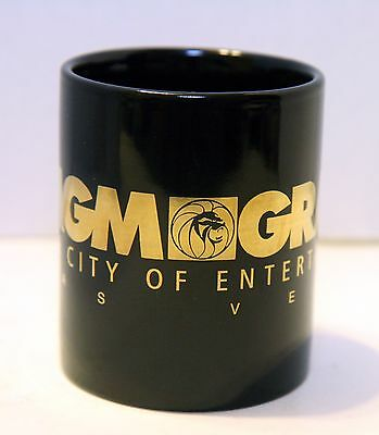MGM GRAND LAS VEGAS COFFEE CUP MUG Casino Hotel Black gold Lion