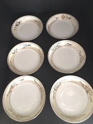 Vintage Berry Bowls Nippon  Heavy Gold Set of 6