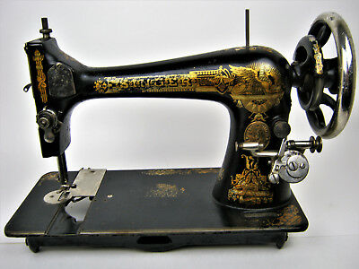 Singer Sewing Machine - 1900 - Rare 1st Singers Produced in America - Black Gold